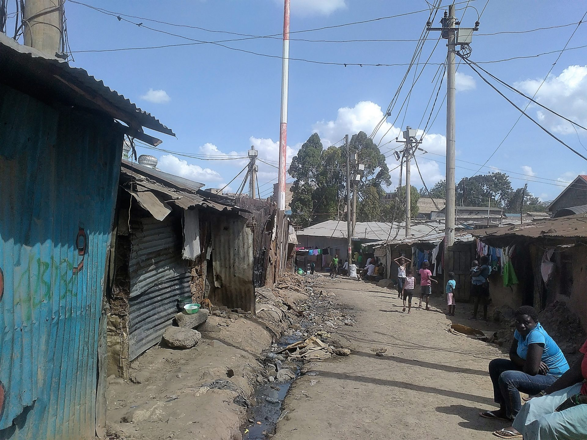 The main street MATHARE 4B